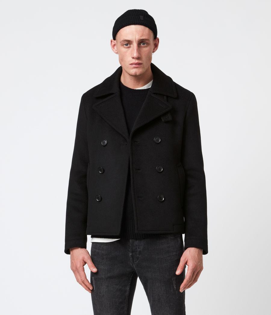 Men's Juncal Melton Wool Blend Peacoat (black) - Image 1