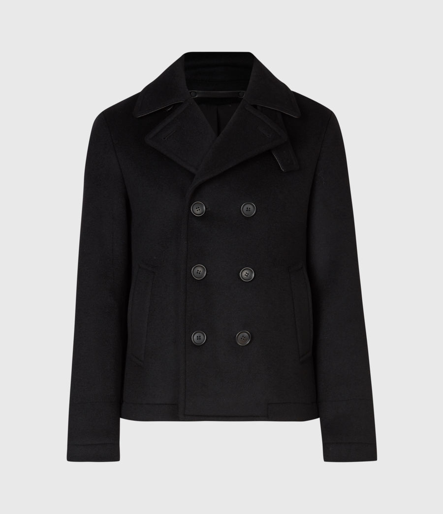 Men's Juncal Melton Wool Blend Peacoat (black) - Image 2