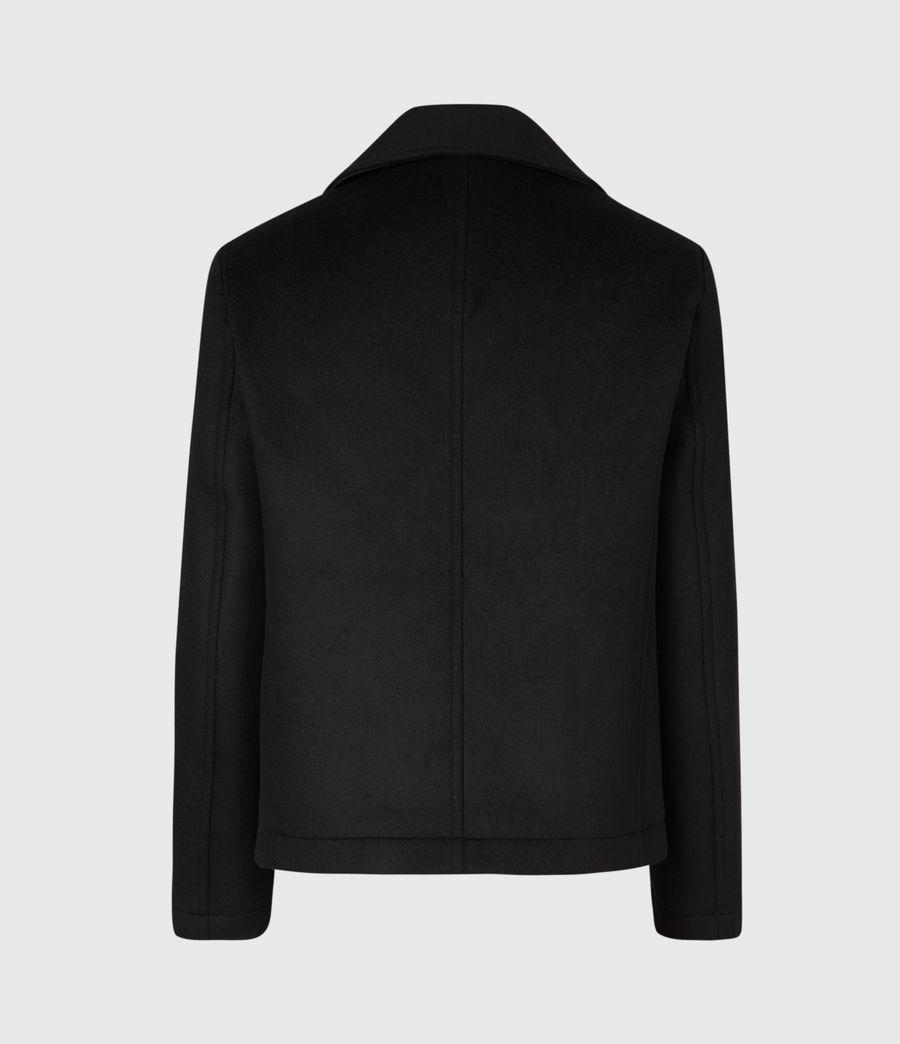 Men's Juncal Melton Wool Blend Peacoat (black) - Image 3
