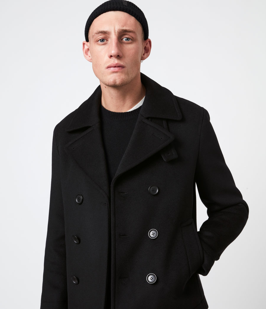Mens Juncal Melton Wool Blend Peacoat (black) - Image 5