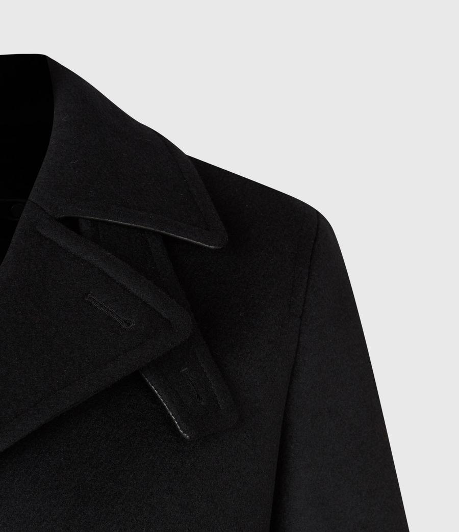 Men's Juncal Melton Wool Blend Peacoat (black) - Image 6
