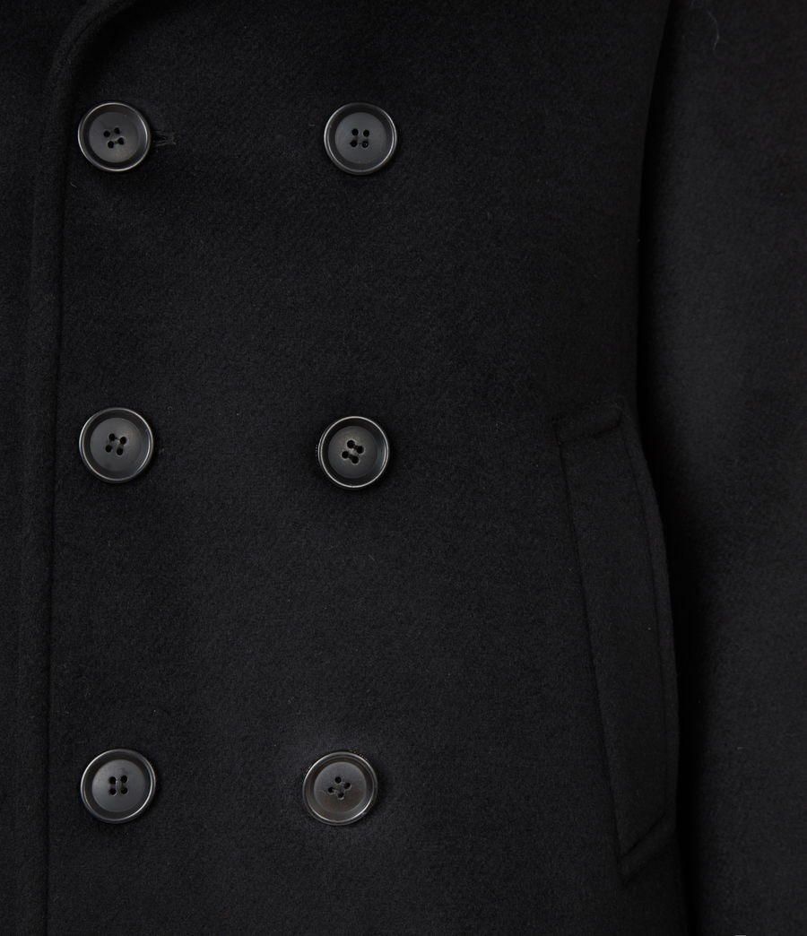 Mens Juncal Melton Wool Blend Peacoat (black) - Image 7