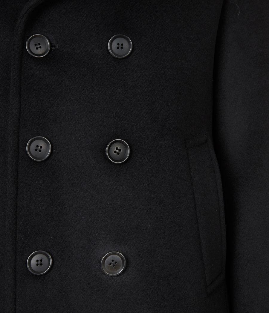 Men's Juncal Melton Wool Blend Peacoat (black) - Image 7