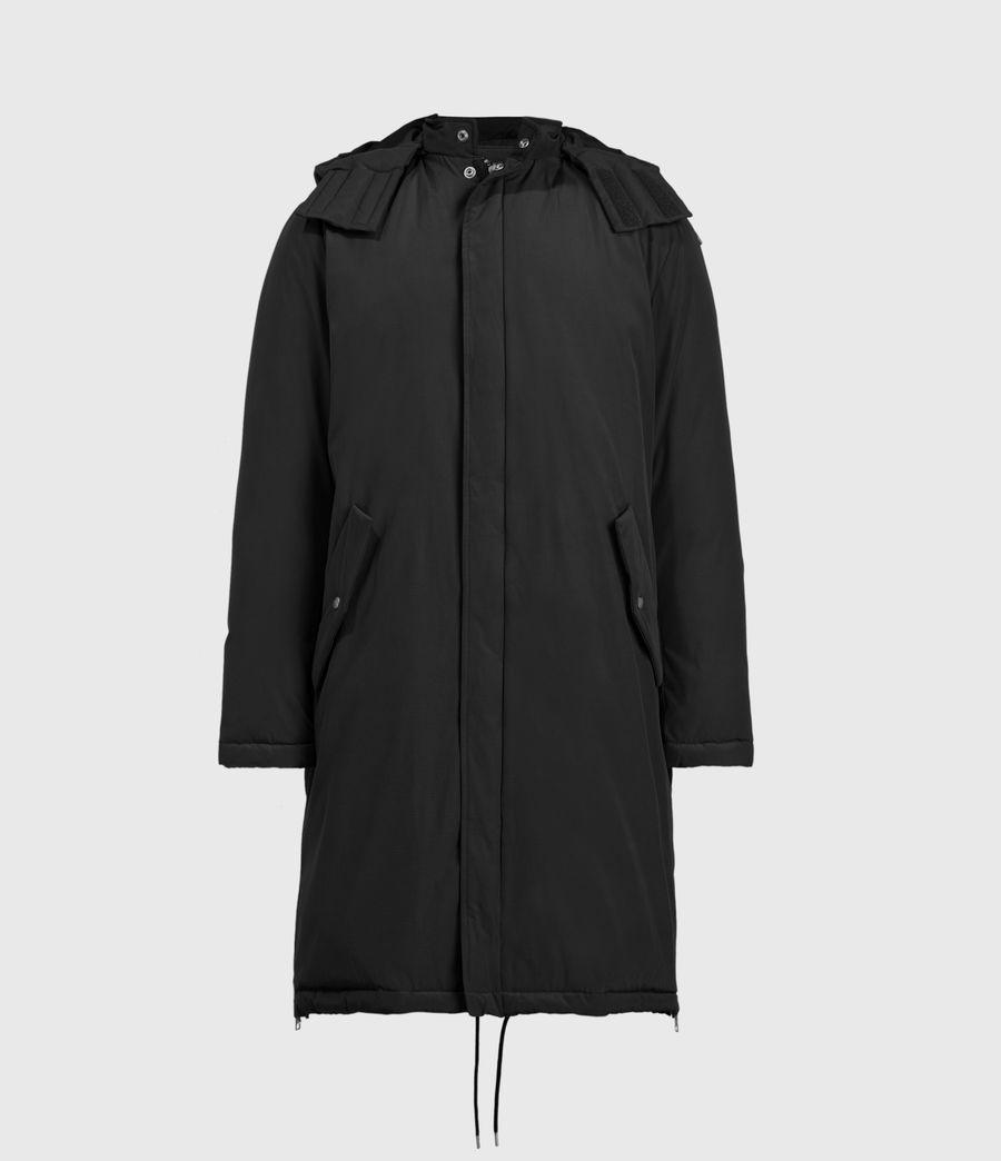 Mens Elm Parka Coat (black) - Image 2