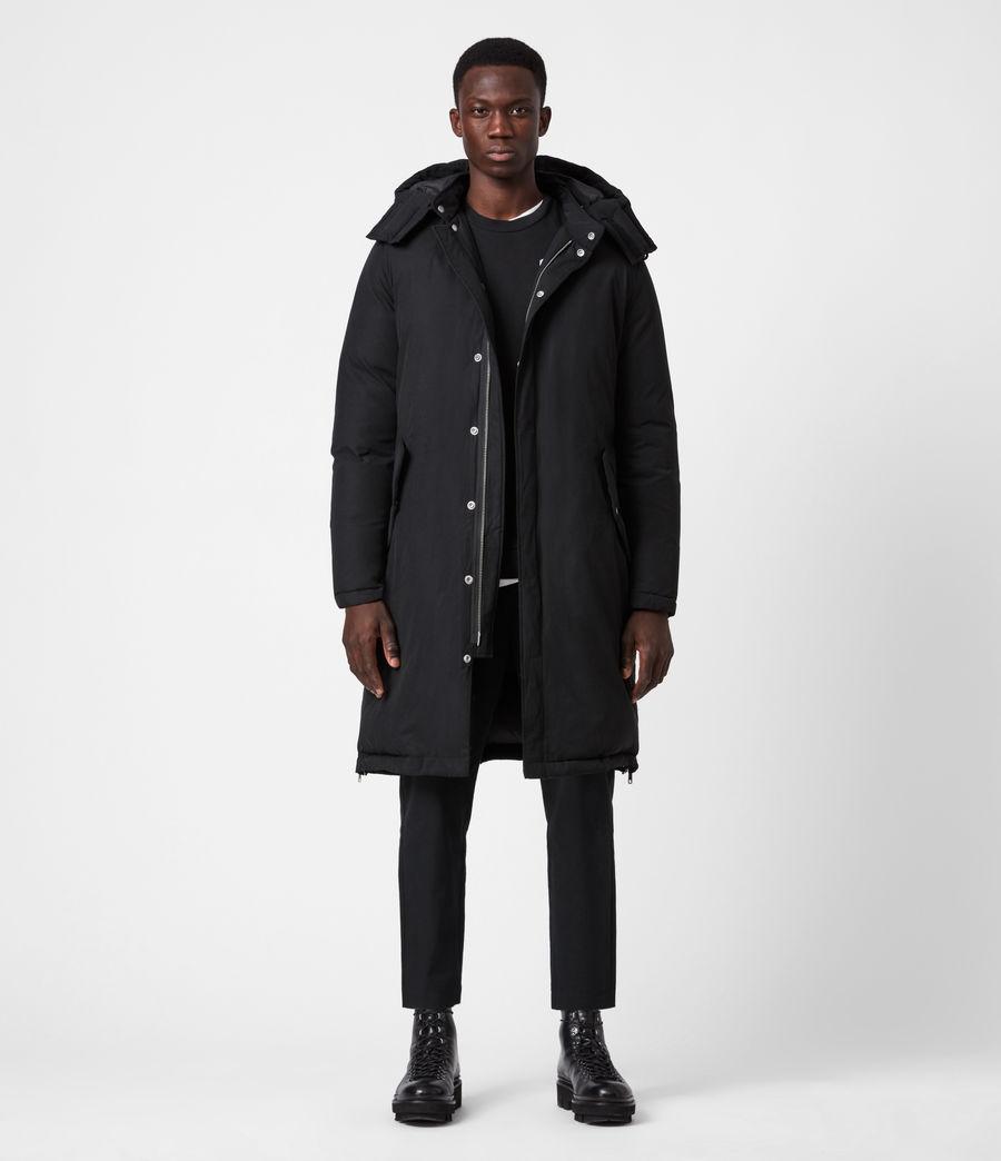 Mens Elm Parka Coat (black) - Image 5