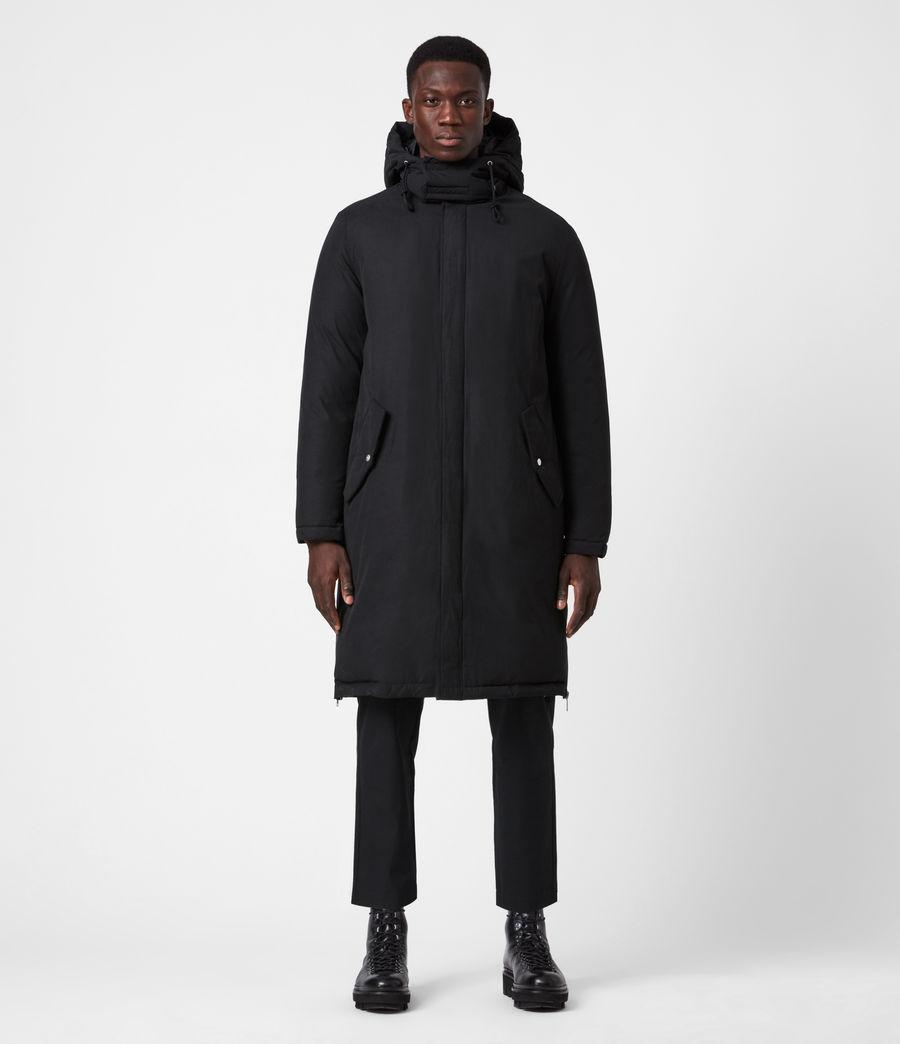 Mens Elm Parka Coat (black) - Image 9