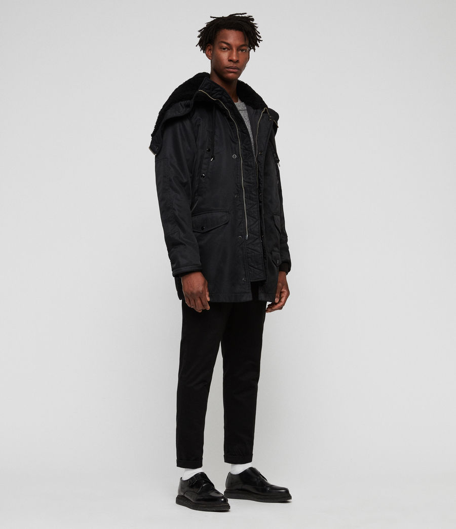 Mens Garth Parka (black) - Image 1
