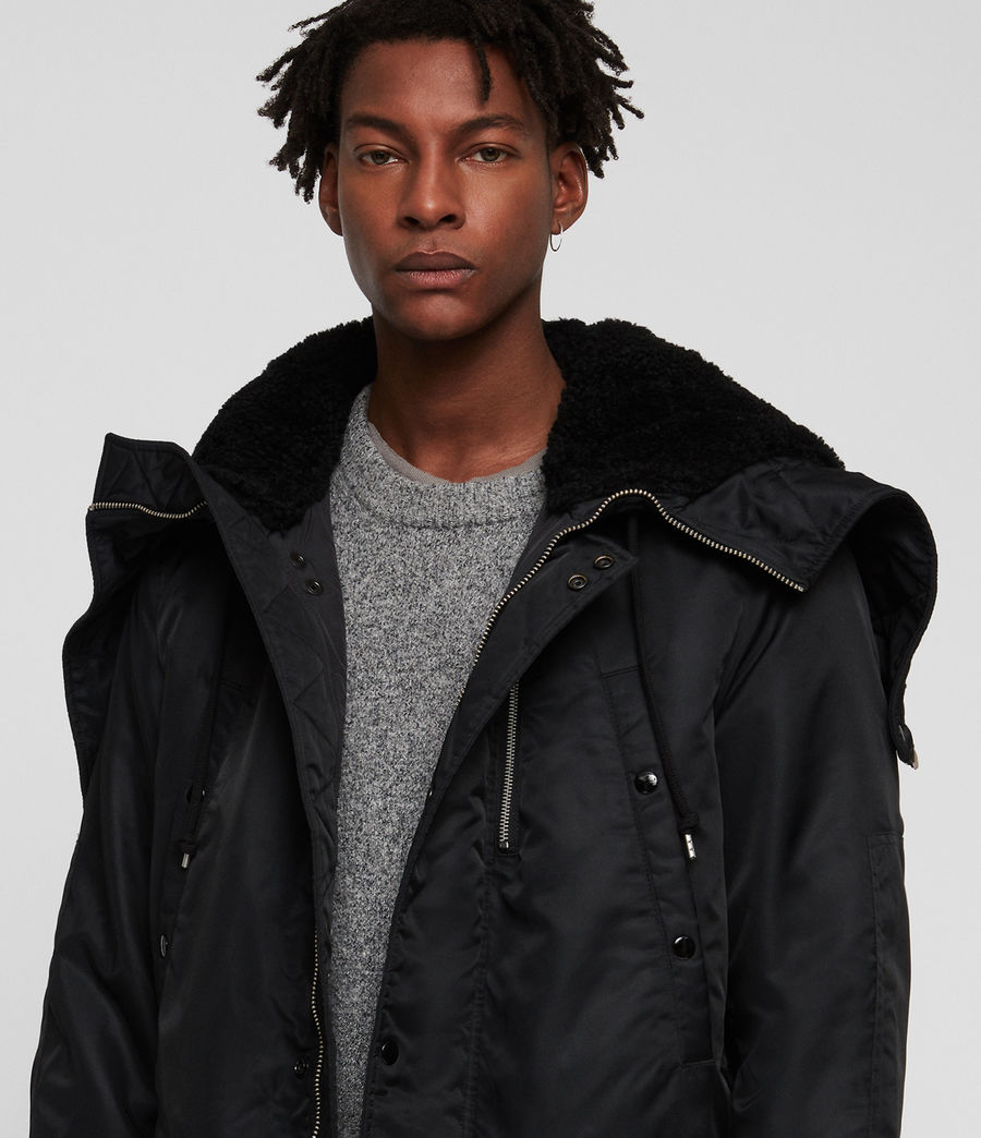 Mens Garth Parka (black) - Image 2