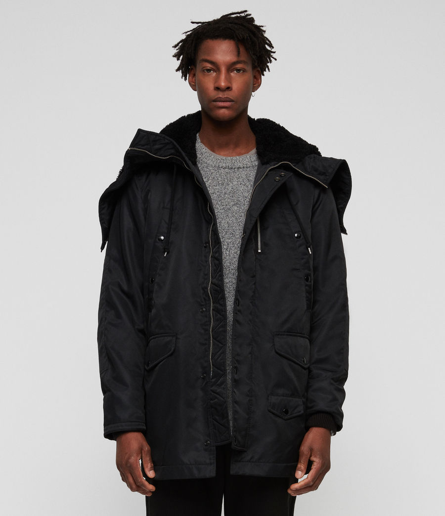 Mens Garth Parka (black) - Image 3