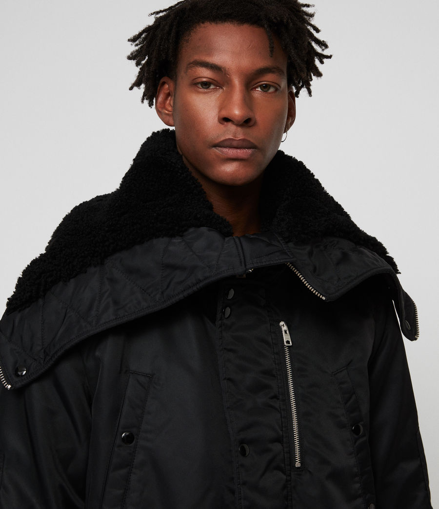 Mens Garth Parka (black) - Image 4