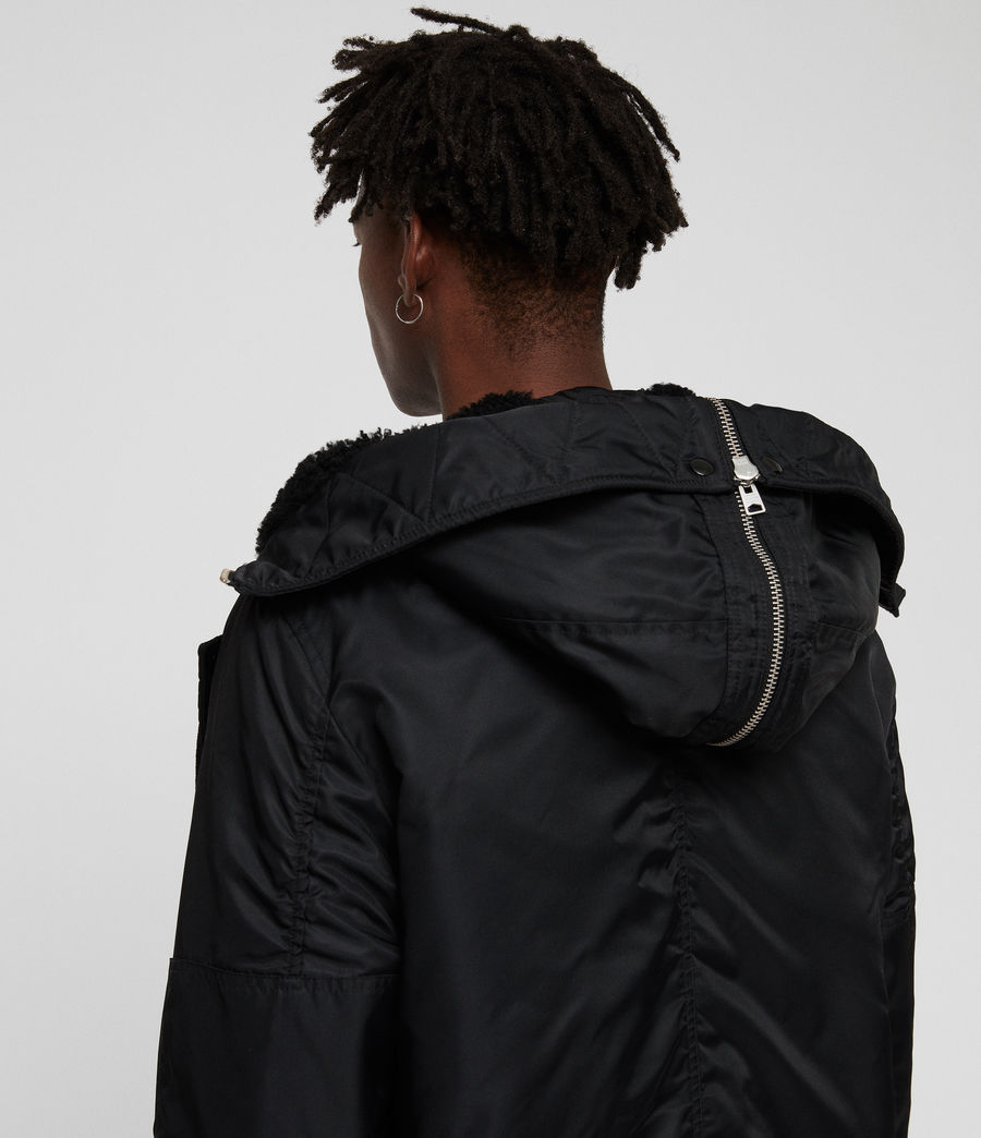 Men's Garth Parka (black) - Image 7