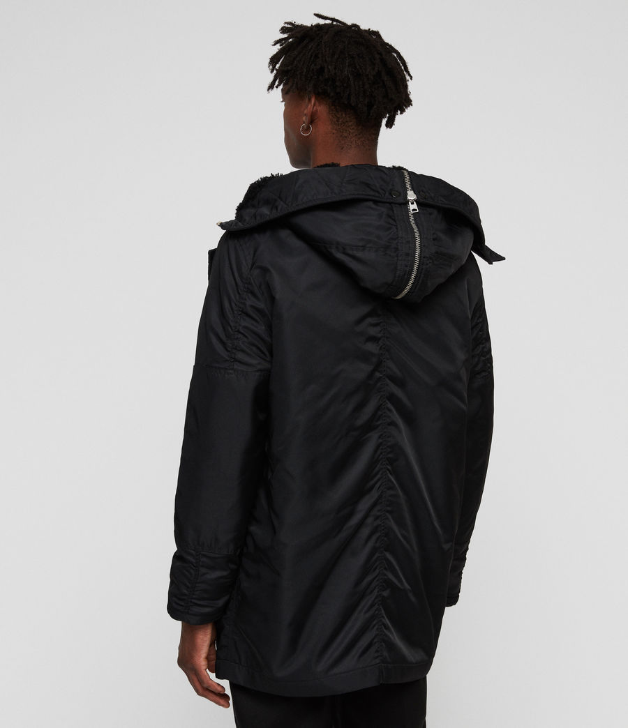 Mens Garth Parka (black) - Image 8