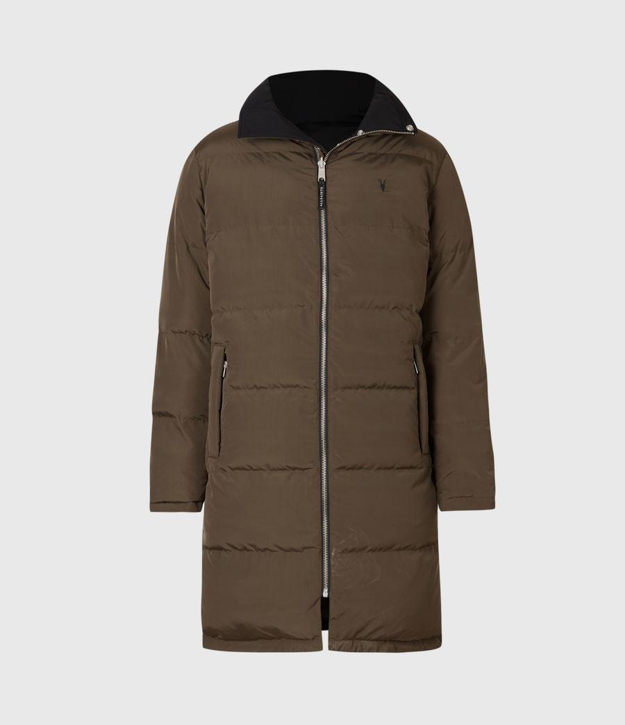Mens Novelon Reversible Puffer Coat (black_khaki) - Image 2