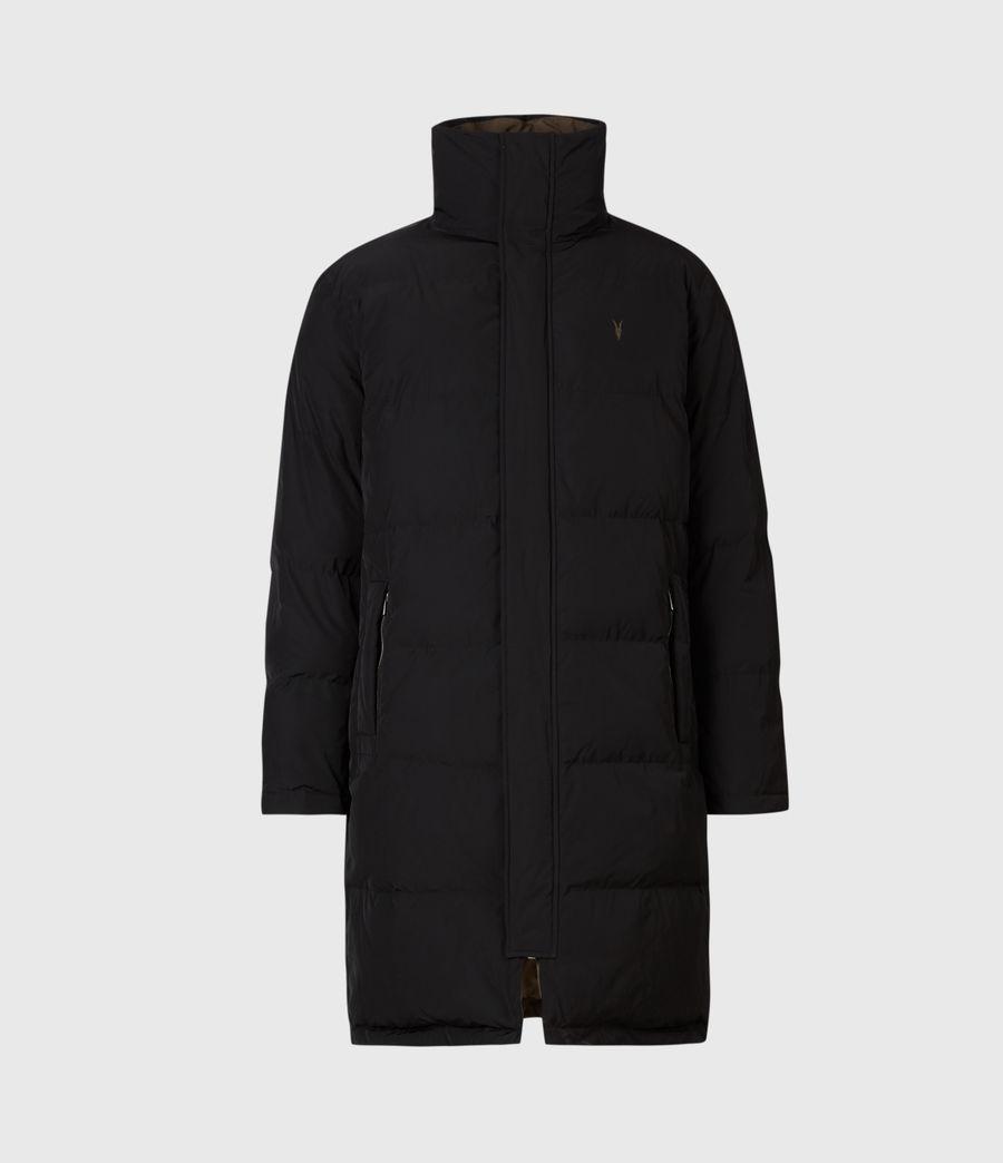 Mens Novelon Reversible Puffer Coat (black_khaki) - Image 3
