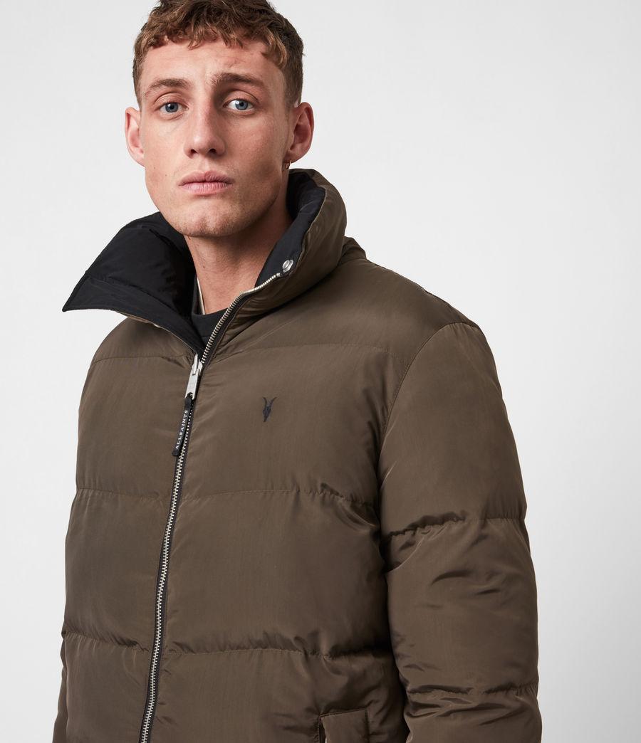 Men's Novelon Reversible Puffer Coat (black_khaki) - Image 4