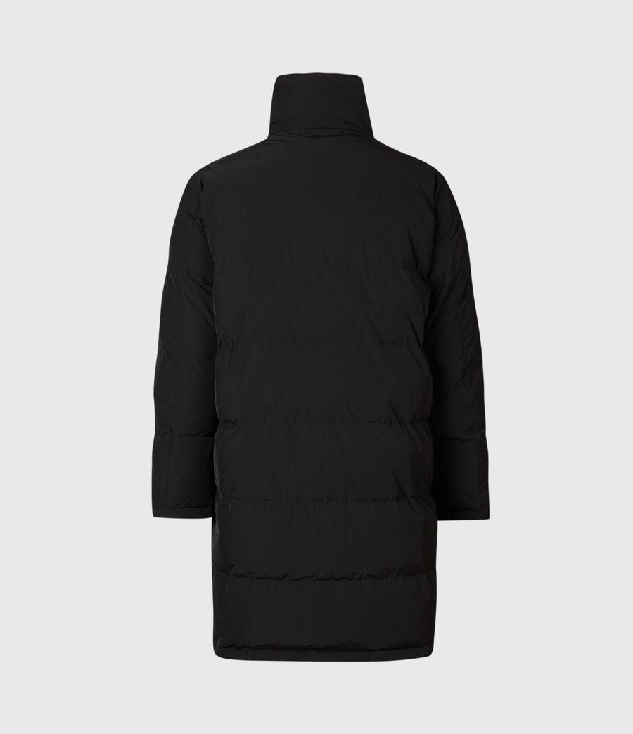 Mens Novelon Reversible Puffer Coat (black_khaki) - Image 5