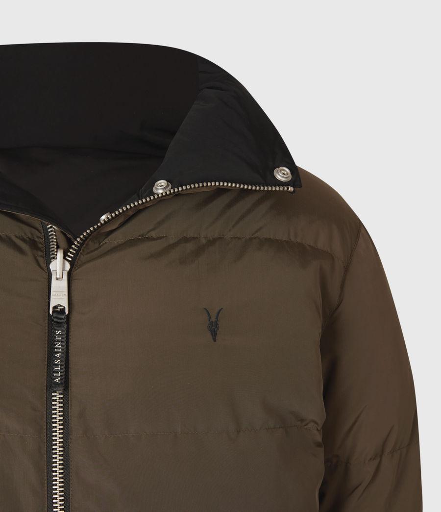 Mens Novelon Reversible Puffer Coat (black_khaki) - Image 7
