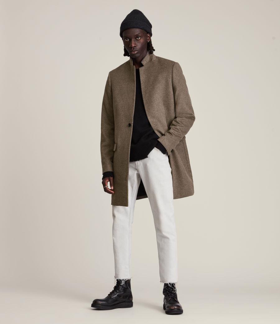 Men's Manor Wool Coat (fog_marl) - Image 1