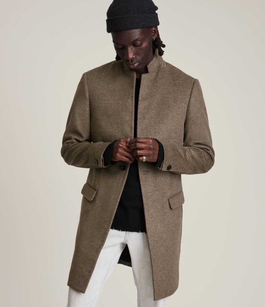 Men's Manor Wool Coat (fog_marl) - Image 3