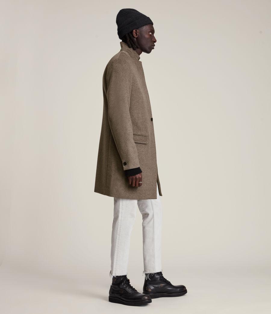 Men's Manor Wool Coat (fog_marl) - Image 4