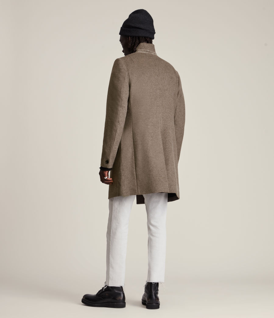 Men's Manor Wool Coat (fog_marl) - Image 6