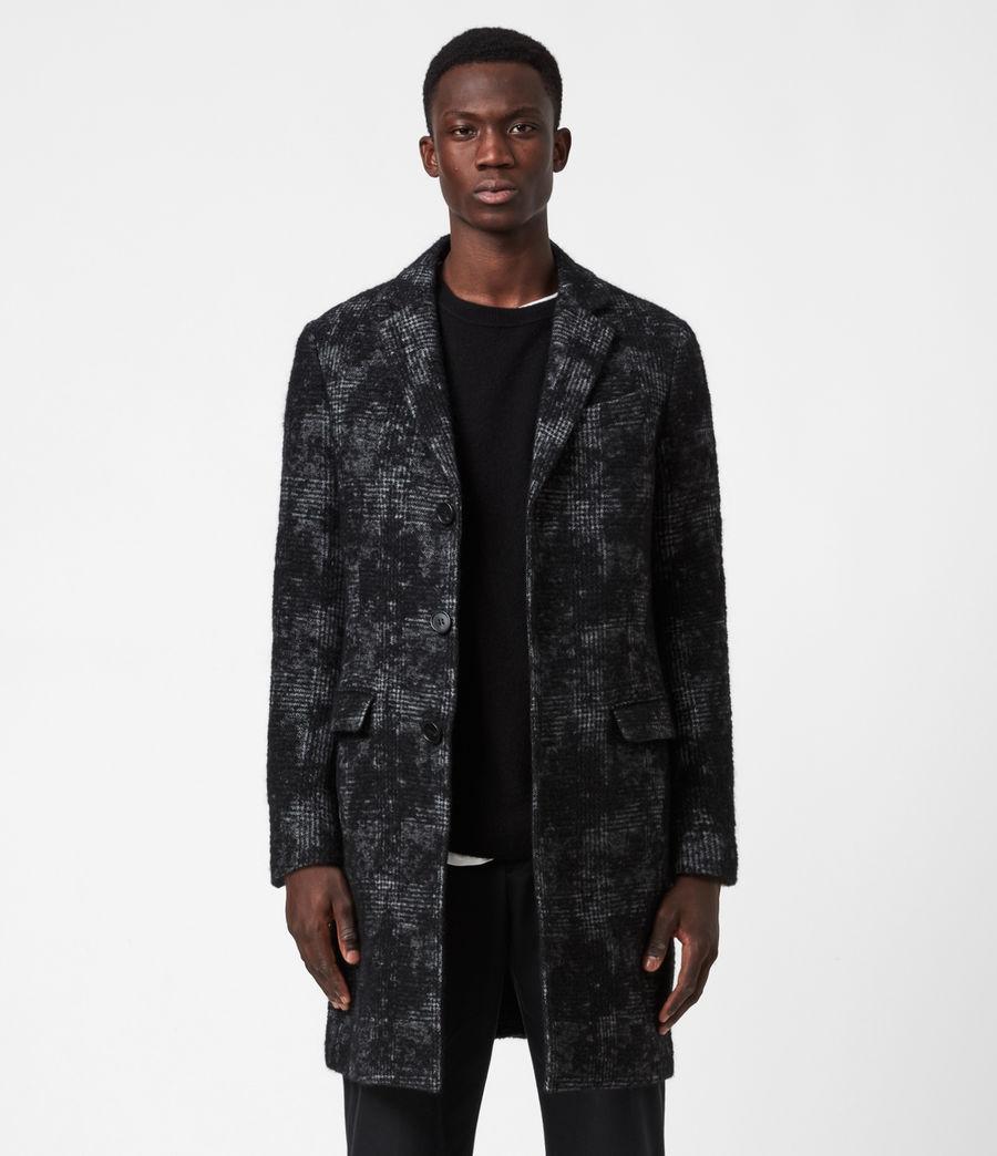 Men's Bisp Wool Blend Coat (charcoal) - Image 1