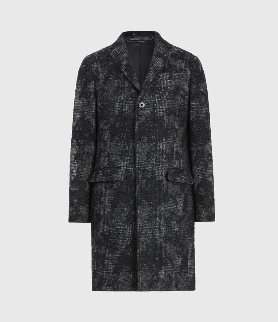 Mens Bisp Wool Blend Coat (charcoal) - Image 2