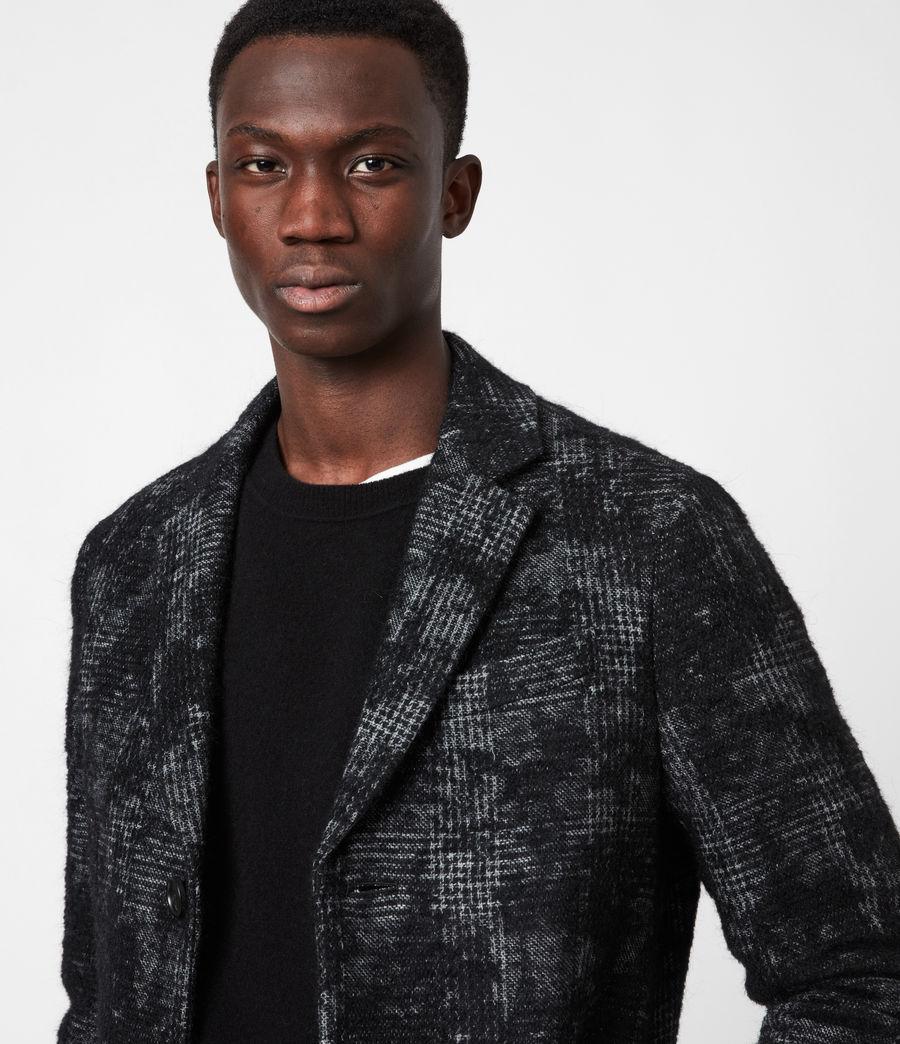 Men's Bisp Wool Blend Coat (charcoal) - Image 4