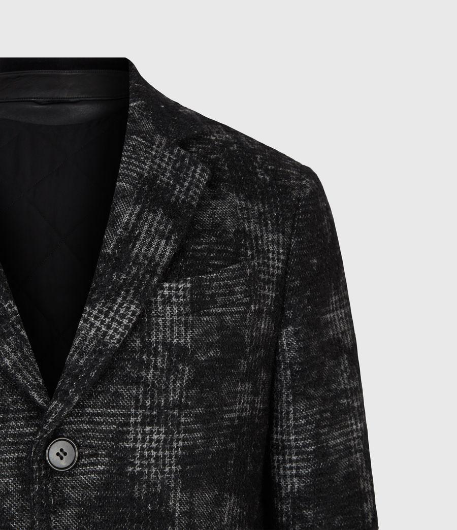 Mens Bisp Wool Blend Coat (charcoal) - Image 5