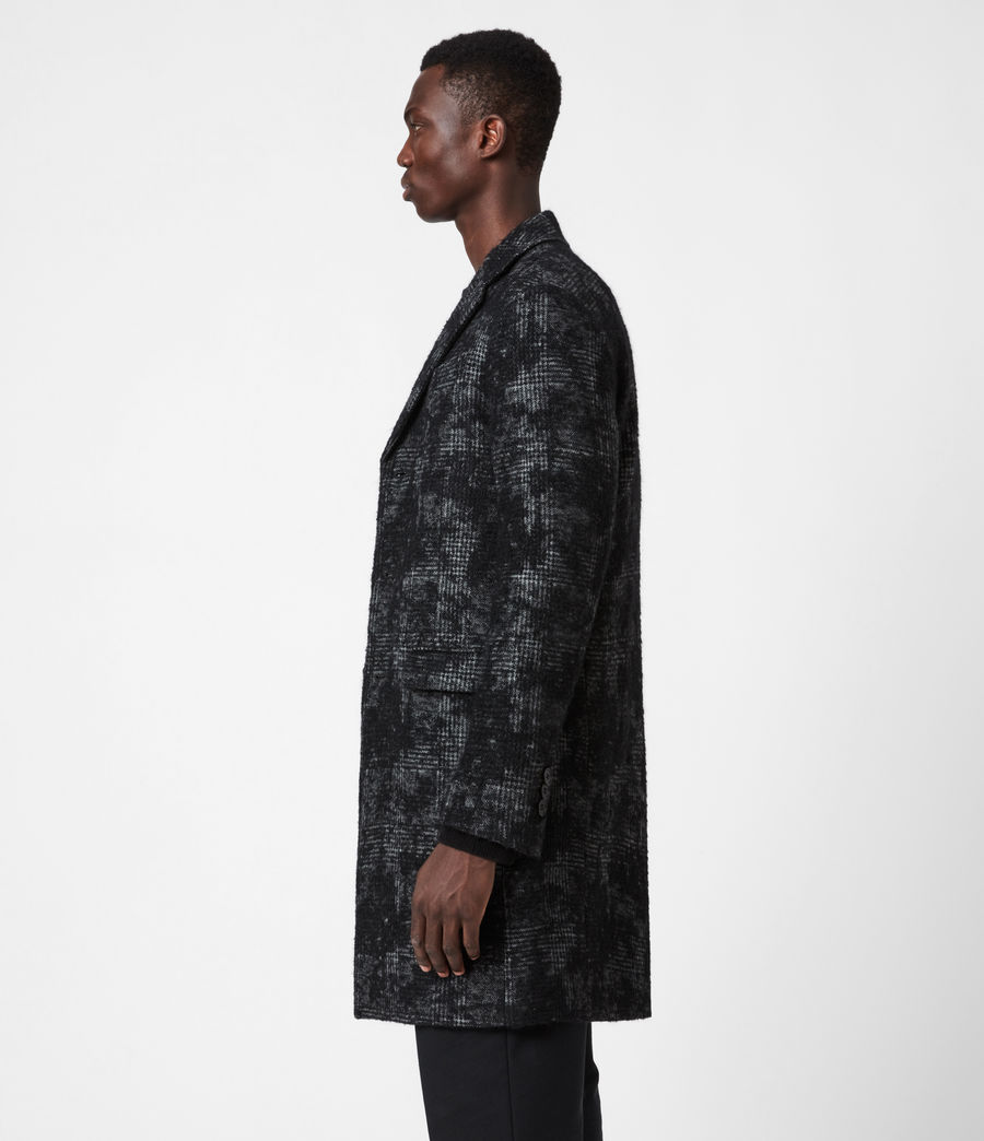 Mens Bisp Wool Blend Coat (charcoal) - Image 6
