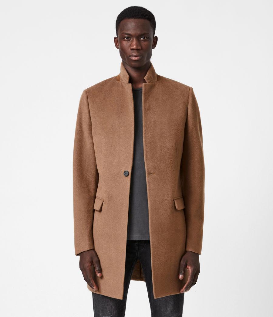 Men's Manor Wool Coat (camel) - Image 1