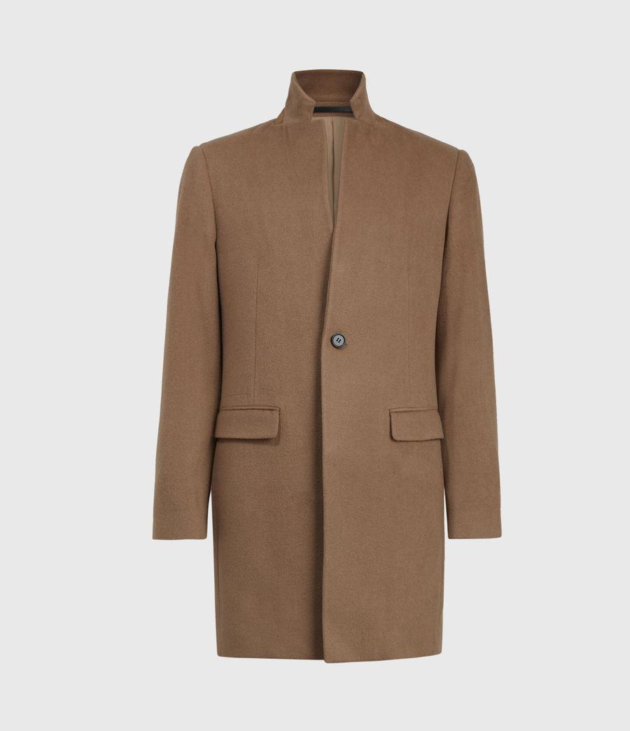 Men's Manor Wool Coat (camel) - Image 2