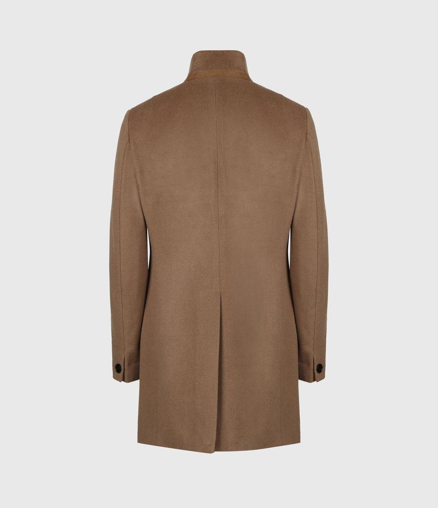 Men's Manor Wool Coat (camel) - Image 3