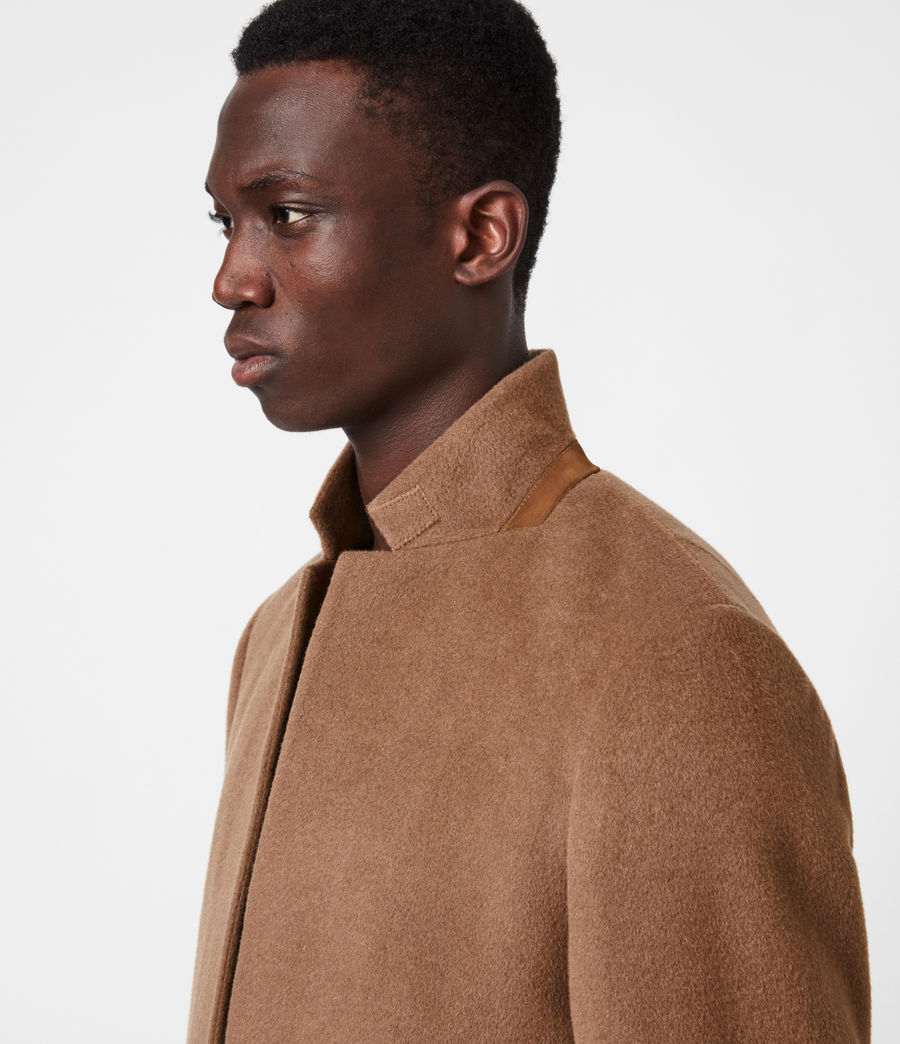 Men's Manor Wool Coat (camel) - Image 4