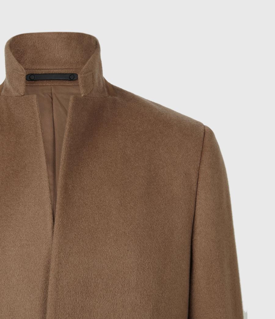Men's Manor Wool Coat (camel) - Image 5