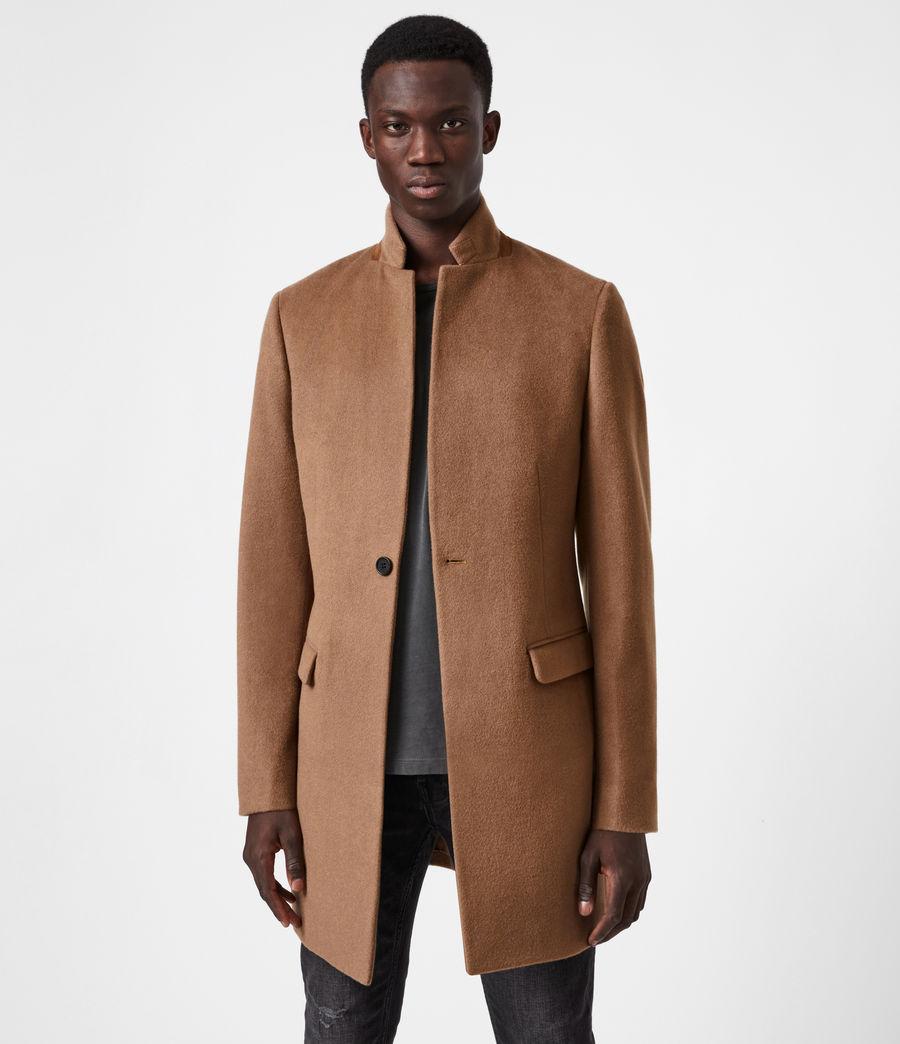 Men's Manor Wool Coat (camel) - Image 6