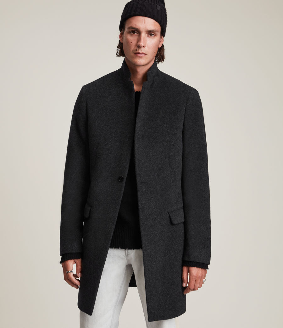 Mens Manor Wool Coat (charcoal_grey) - Image 1