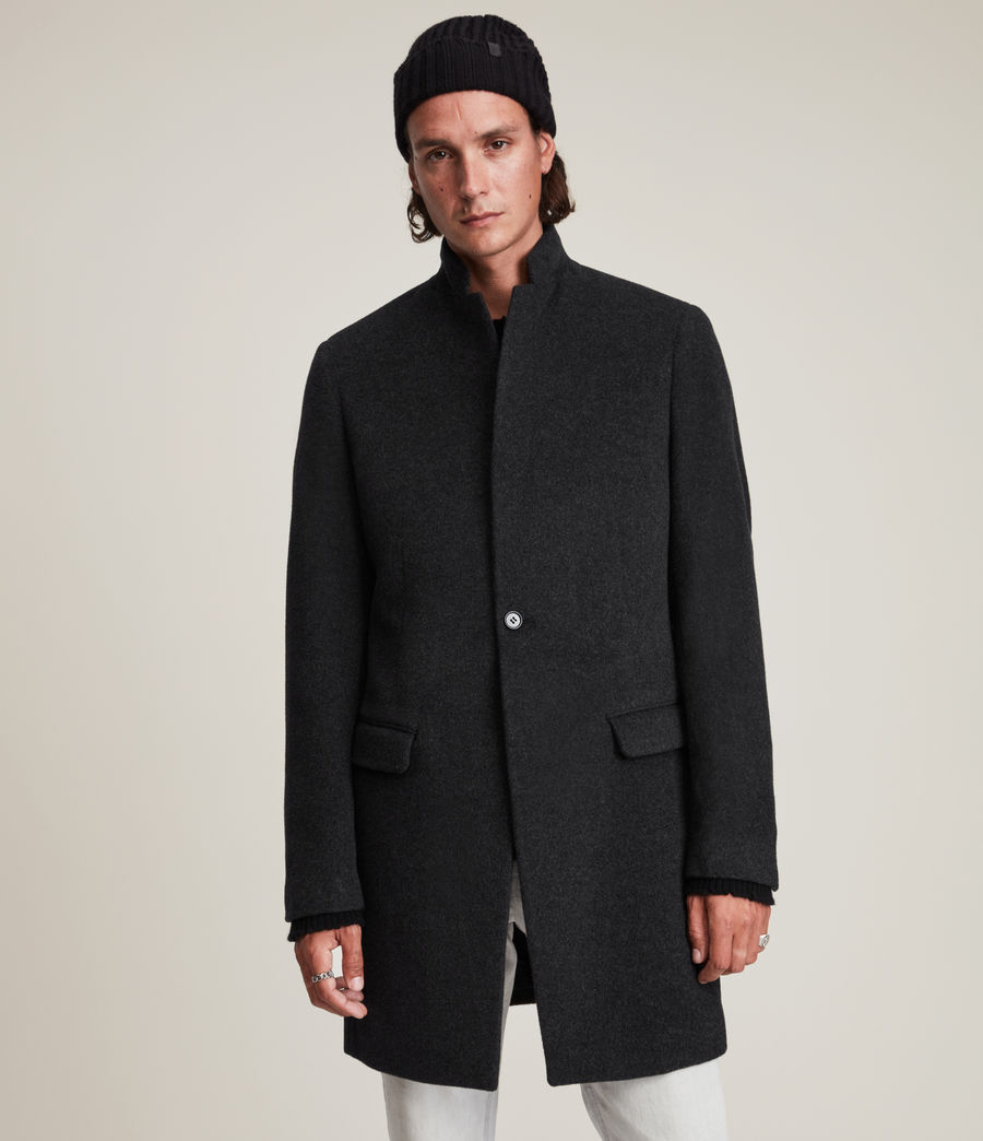 Mens Manor Wool Coat (charcoal_grey) - Image 5