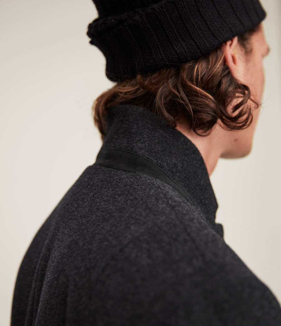 Men's Manor Wool Coat (charcoal_grey) - Image 6