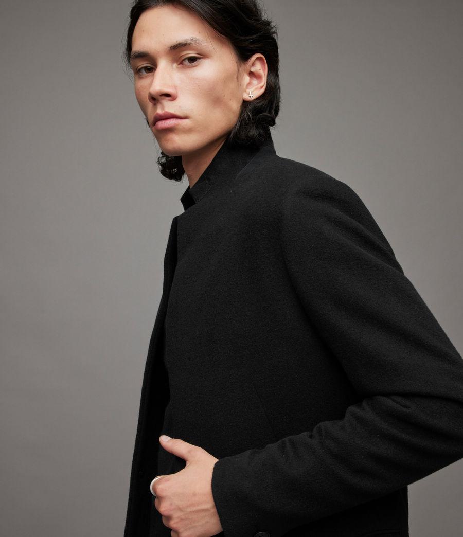 Mens Manor Wool Coat (black) - Image 2