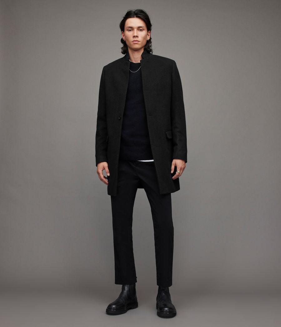 Mens Manor Wool Coat (black) - Image 3