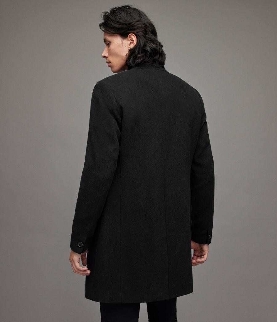 Mens Manor Wool Coat (black) - Image 4