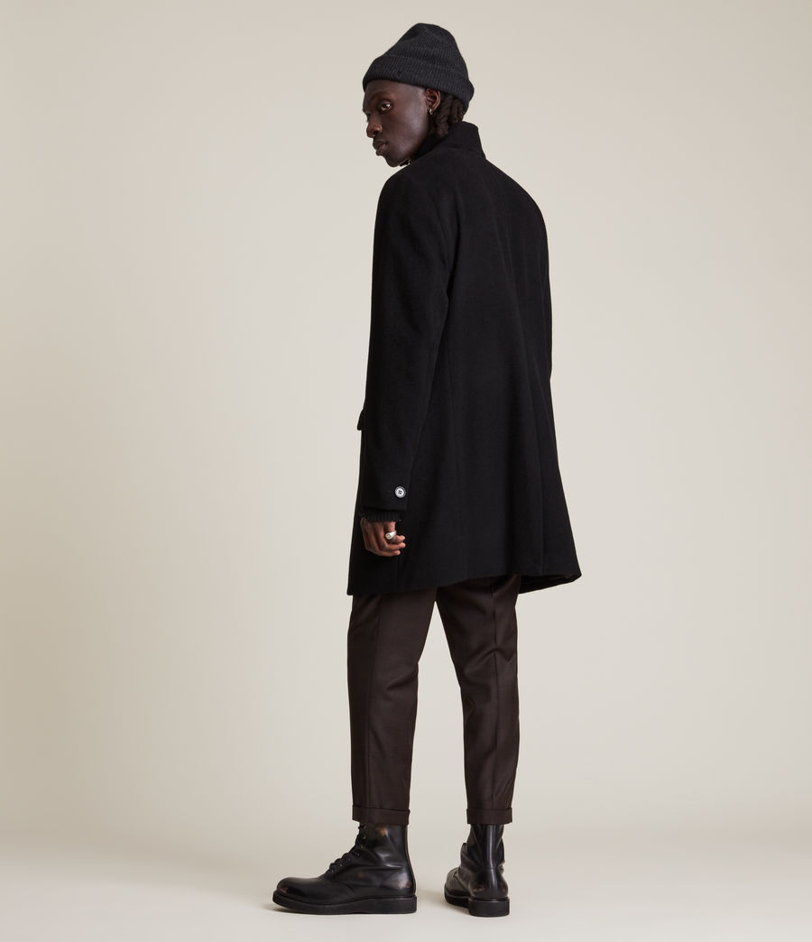 Men's Manor Wool Coat (black) - Image 5