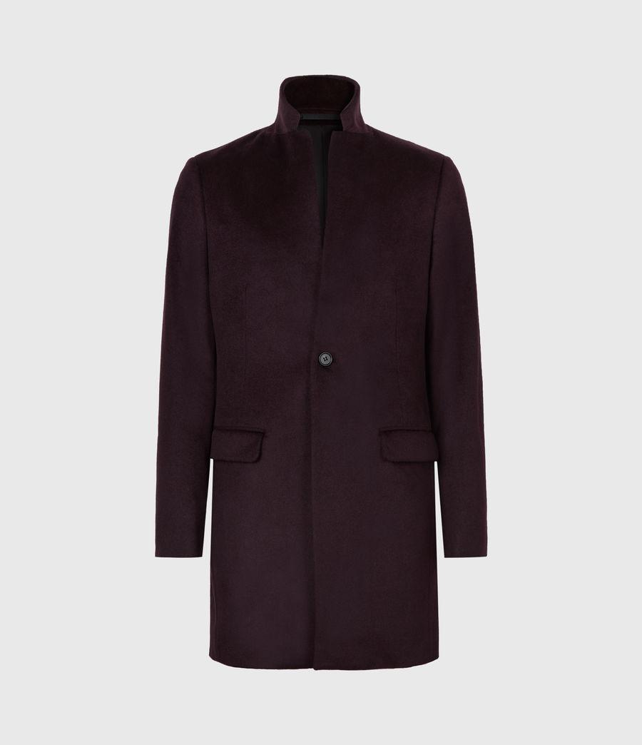 Mens Manor Wool Coat (dark_garnet) - Image 2