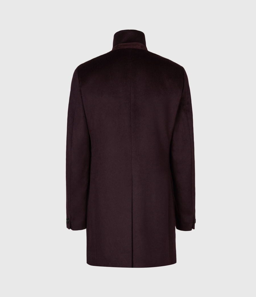 Men's Manor Wool Coat (dark_garnet) - Image 3