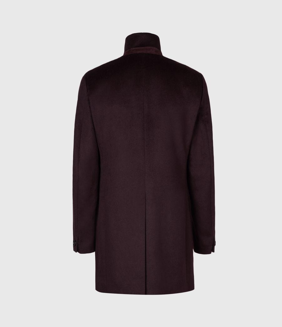 Mens Manor Wool Coat (dark_garnet) - Image 3