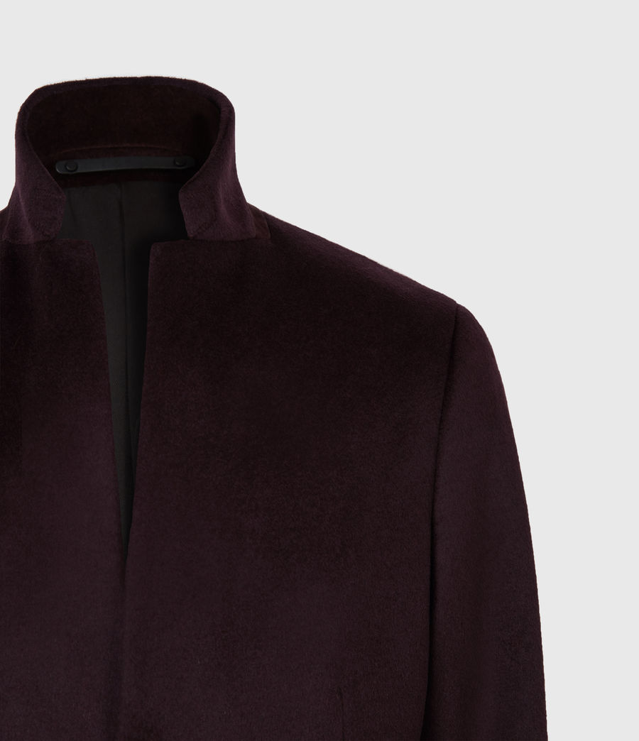 Men's Manor Wool Coat (dark_garnet) - Image 5
