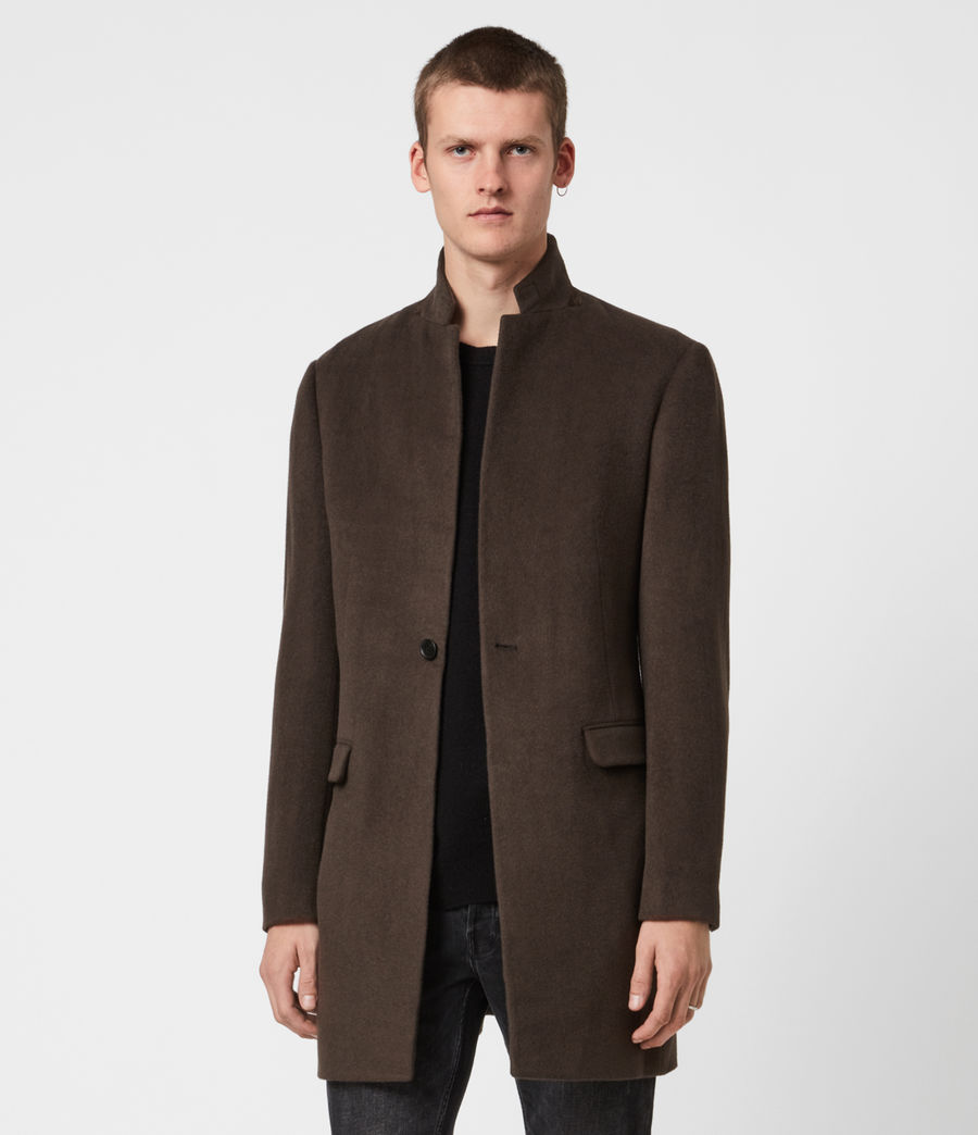 Herren Manor Wool Coat (earth_brown) - Image 1