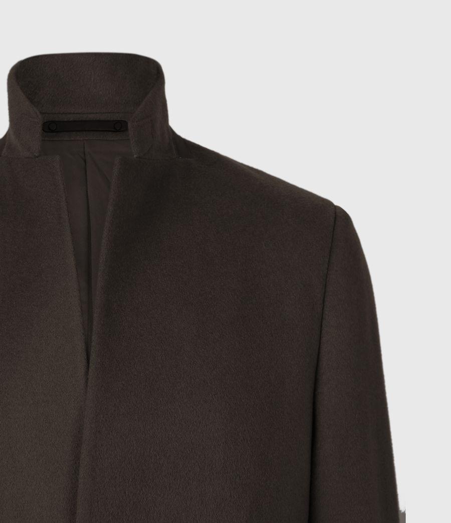 Men's Manor Wool Coat (earth_brown) - Image 4