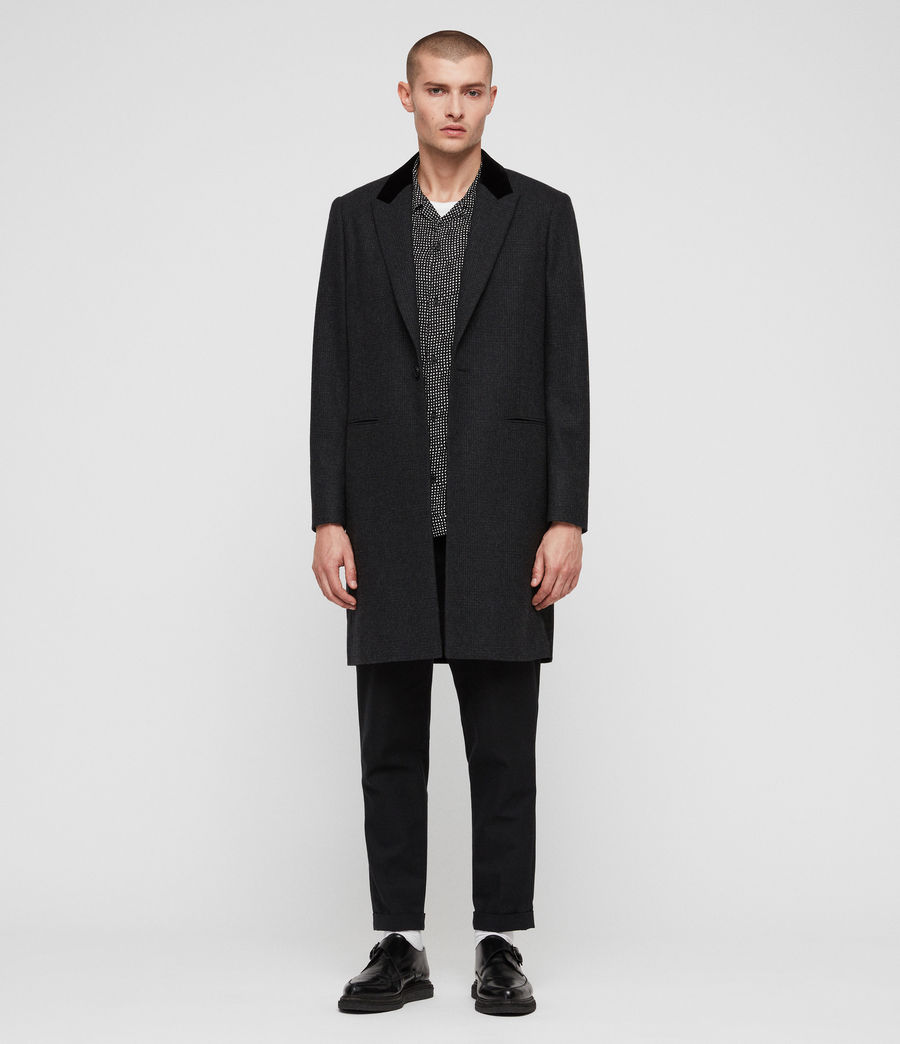 Mens Farago Coat (charcoal_grey) - Image 1